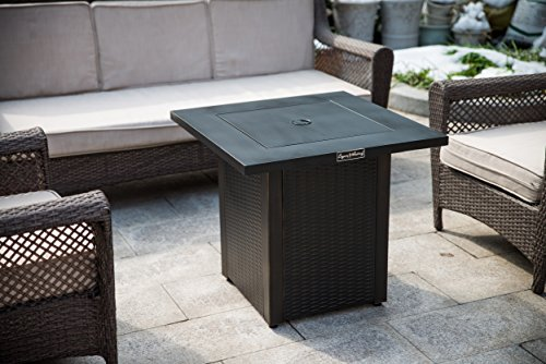 LEGACY HEATING CDF-WMGB28-WK fire Table, 28″X28″X24″ Black