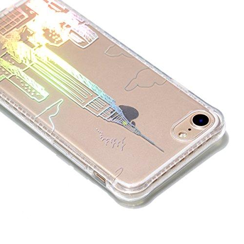 Funda para iPhone 8/iPhone 7/iPhone 7G (4,7 zoll), Ecoway TPU plating Patrón de recubrimiento de color Carcasa Antideslizante Parachoques Resistente a los arañazos Contraportada Funda de silicona Para Nueva York