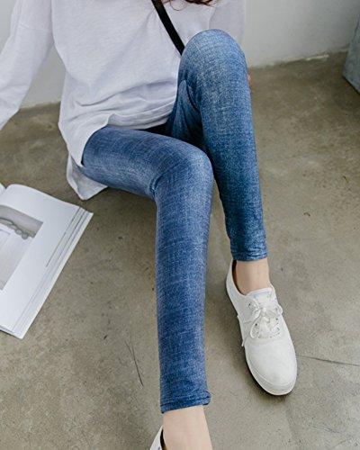 Jeggings Pantalon Femme Denimlan Legging Taille Push Imitation Stretch Haute Jean Up zTqAZxzwBF