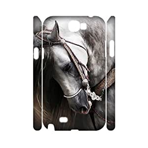 Chinese Running horse Personalized 3D Cover Case for Samsung Galaxy Note 2 N7100,custom Chinese Running horse Case