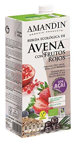 Amandin Bebida de Avena con Frutos Rojos - Paquete de 6 x 1000 ml - Total: 6000 ml: Amazon.es: Alimentación y bebidas
