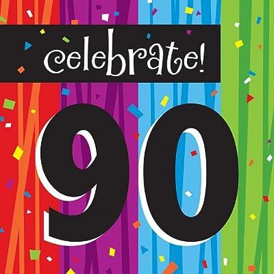 Creative Converting Milestone Celebrations Luncheon Napkins, Celebrate 90