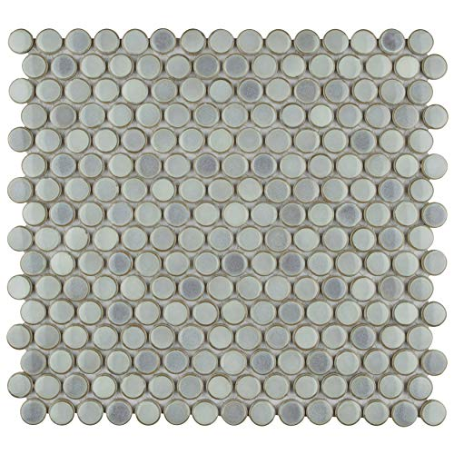 SomerTile FKOMPR12 Penny Eye Porcelain Mosaic Floor and Wall, 12