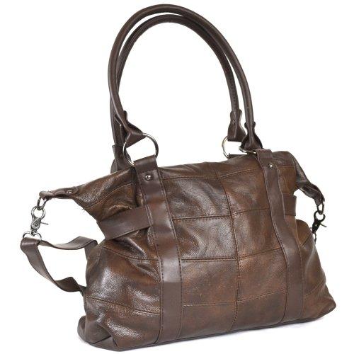 oscuro marrón para Lorenz marrón mujer de Bolso tela Hxww0qSgO