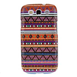 SUMCOM Purple Weaving Cotton Cloth Pattern Protective Hard Back Cover Case for Samsung Galaxy S3 I9300