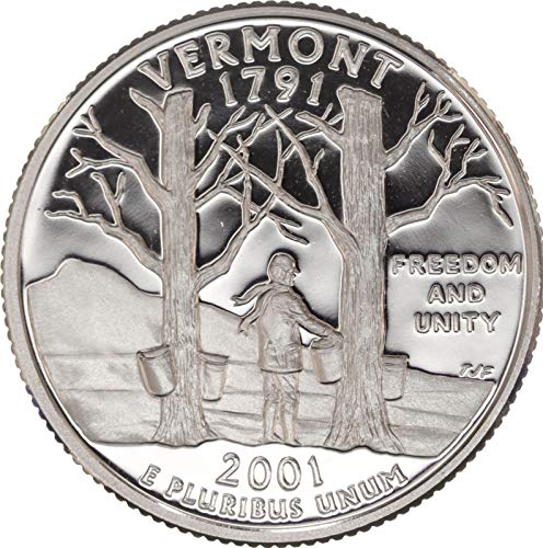 2001 S Vermont State Clad Proof Quarter PF1 US Mint