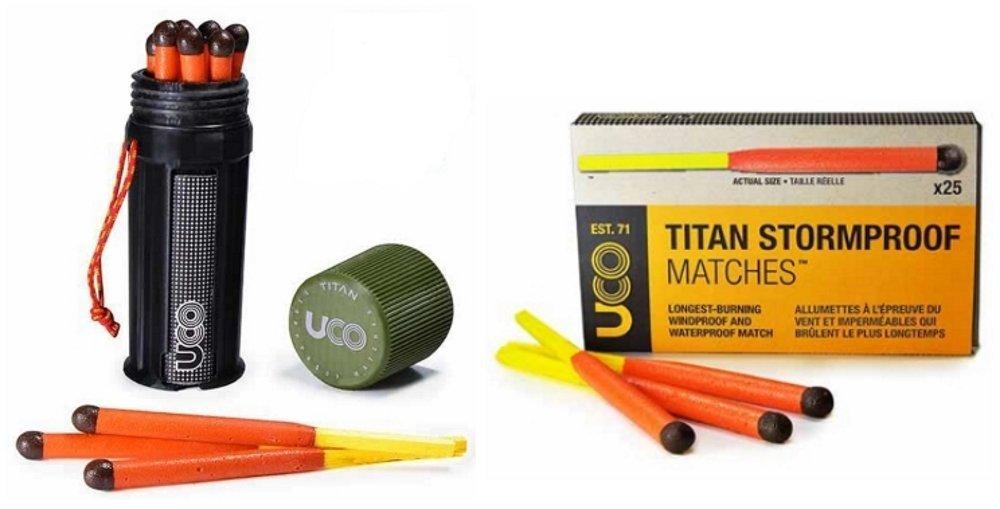 Bundle - 2 Items: 1 Titan Stormproof Match Kit and 1 Box Titan Stormproof Matches
