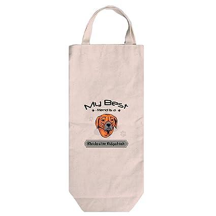 Amazon.com: Canvas Wine Bag Handles My Best Friend Rhodesian ... on