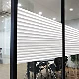 Rabbitgoo No Glue Static Tinted Patterns Privacy Glass Window Films 35.4in. ...