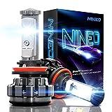 h11 cree led headlight bulb - NINEO H11 LED Headlight Bulbs, H8 H9 CREE Chips, Cool White Conversion Kit 6000K 7,200Lm - 3 Yr Warranty