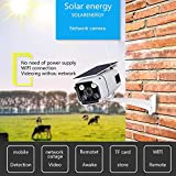Solar Powered Bullet Cameras,Wireless WiFi Network Mobile Phone Remote Monitoring Watching 1080P Solar Power IP Camera Outdoor IP67 Waterproof Camera for Home/Office Outdoor