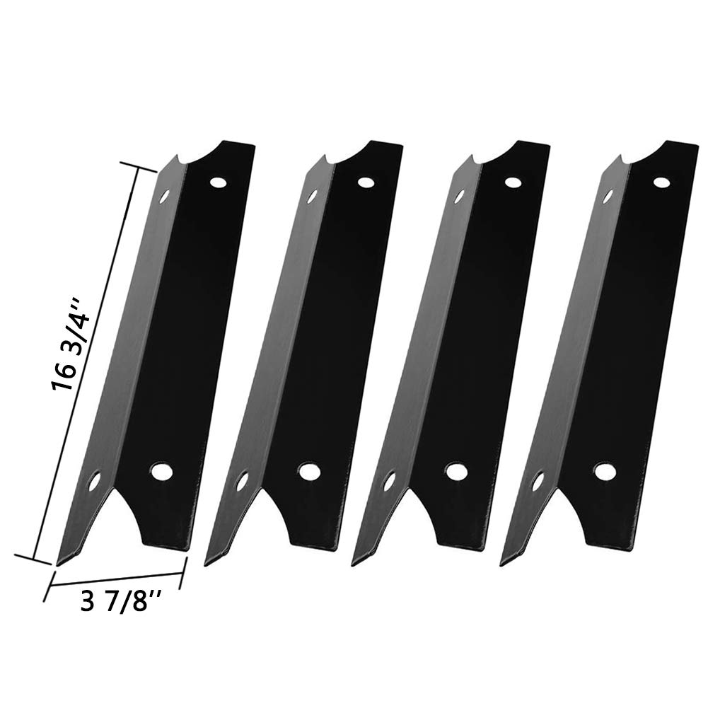 SHINESTAR Grill Heat Plate for Brinkmann, Charmglow 810-7600-S, 810-7440-S, 810-7310-S Replacement Parts, 4-Pack 16 3/4 inch Porcelain Steel Heat Shield Tent BBQ Burner Cover Flame Tamer(SS-HP004)