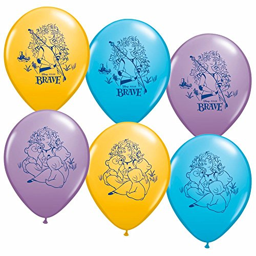 [Disneys Brave Party Supplies Helium Latex Balloons 6ct] (Disney Ideas Costumes)