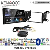 Volunteer Audio Kenwood DMX7704S Double Din Radio Install Kit with Apple CarPlay Android Auto Bluetooth Fits 2011-2013 Toyota Matrix with Amplified System