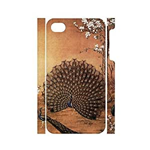 TYH - Custom Peacock Feather Pattern Dustproof Hard Iphone 5/5s Case Cover for Women ending phone case
