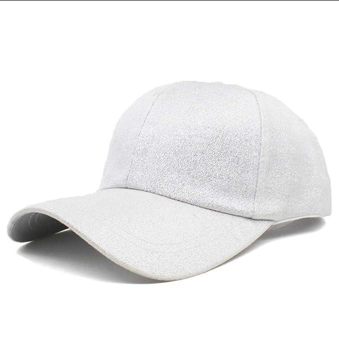 Knncch Diseño De Moda De Las Mujeres Ajustable Sólido Snapback Cap Chica Hip Hop Verano Hombres Gorra De Béisbol para Niño Unisex Sombrero Adulto: ...