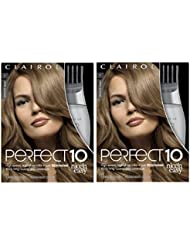 Clairol Perfect 10 By Nice 'N Easy Hair Color Kit (Pack of 2), 007 Dark Blonde Color, Includes Comb Applicator, Lasts Up To 60 Days