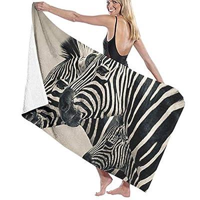 Jchskwn Women's Bath Towel Wrap - Wild Zebra Travel Waffle Spa Beach Towel Wrap for Girls