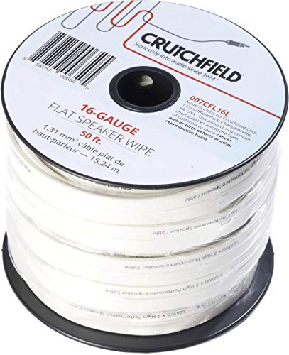 Crutchfield 16 Gauge Flat Wire 50 Foot Roll