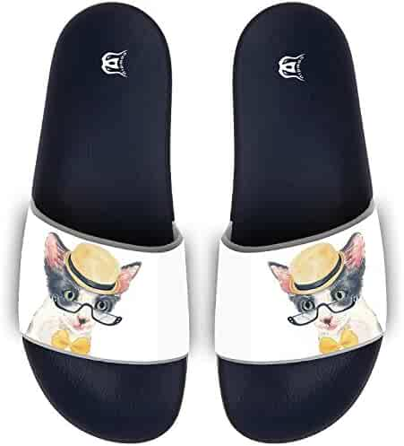 ec009aa40f3a Summer Funny Reto Cat Pattern Girls Beach Sandals Flip-flops Womens Slides  Sandal Comfy Slippers