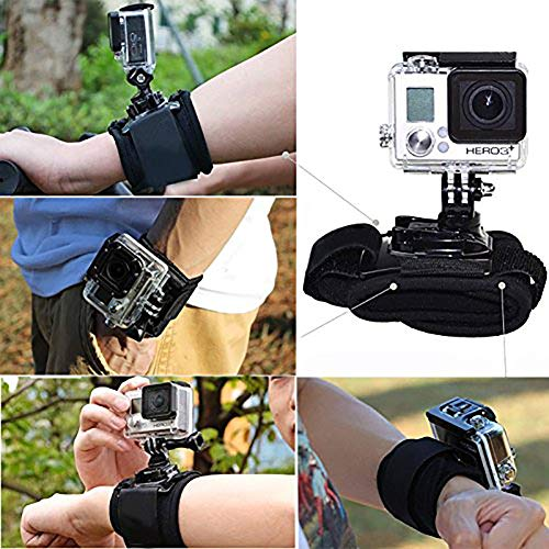 Ehinew Single/Double Shoulder Strap Mount Harness/Wrist Belt Elastic Arm Leg Strap/Adjustable Headband Head Strap Mount/Screw Photography Accessories for GoPro Cameras ()