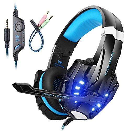 Mengshen Auriculares para Juegos para PS4 / Xbox One / Xbox One S / PC / Mac / Laptop / Celular - Auriculares para Juegos con...
