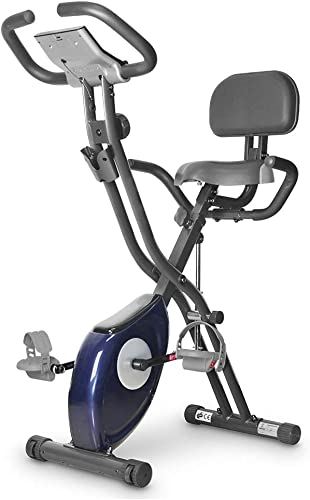leikefitness LEIKE X Bike Ultra-Quiet Folding Exercise Bike, Magnetic Upright Bicycle with Heart Rate,LCD Monitor and easy to assemble 2200 BLUE