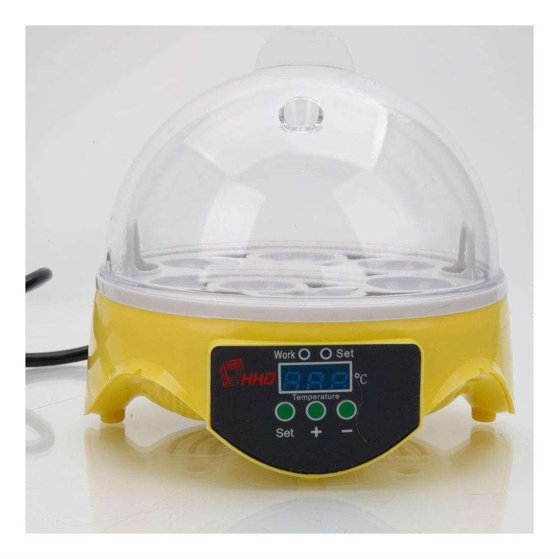 Digital Mini 7 Egg Incubator Poultry Bird Pet Hatcher Clear Temperature Control by Unknown (Image #1)