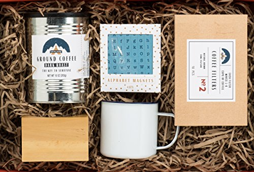 Coffee Therapy Gift Set by Thoughtfully Gifts a Kit for Creative Coffee Lovers Brew one & 30 Awesome Gifts for Coffee Lovers : Roasty Recommends For 2019