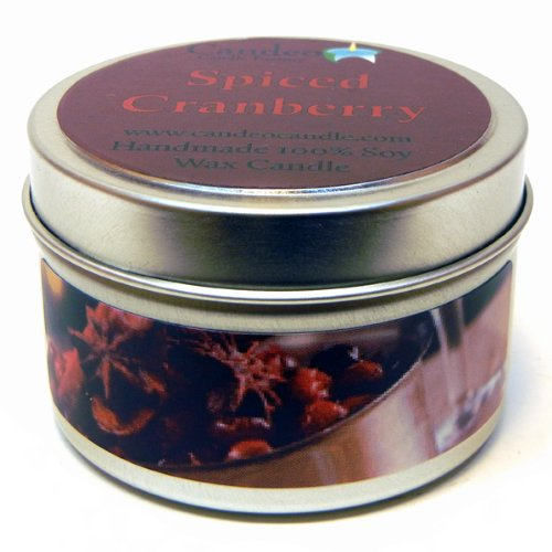 Spiced Cranberry 4oz, Super Scented Soy Candle Tin ()