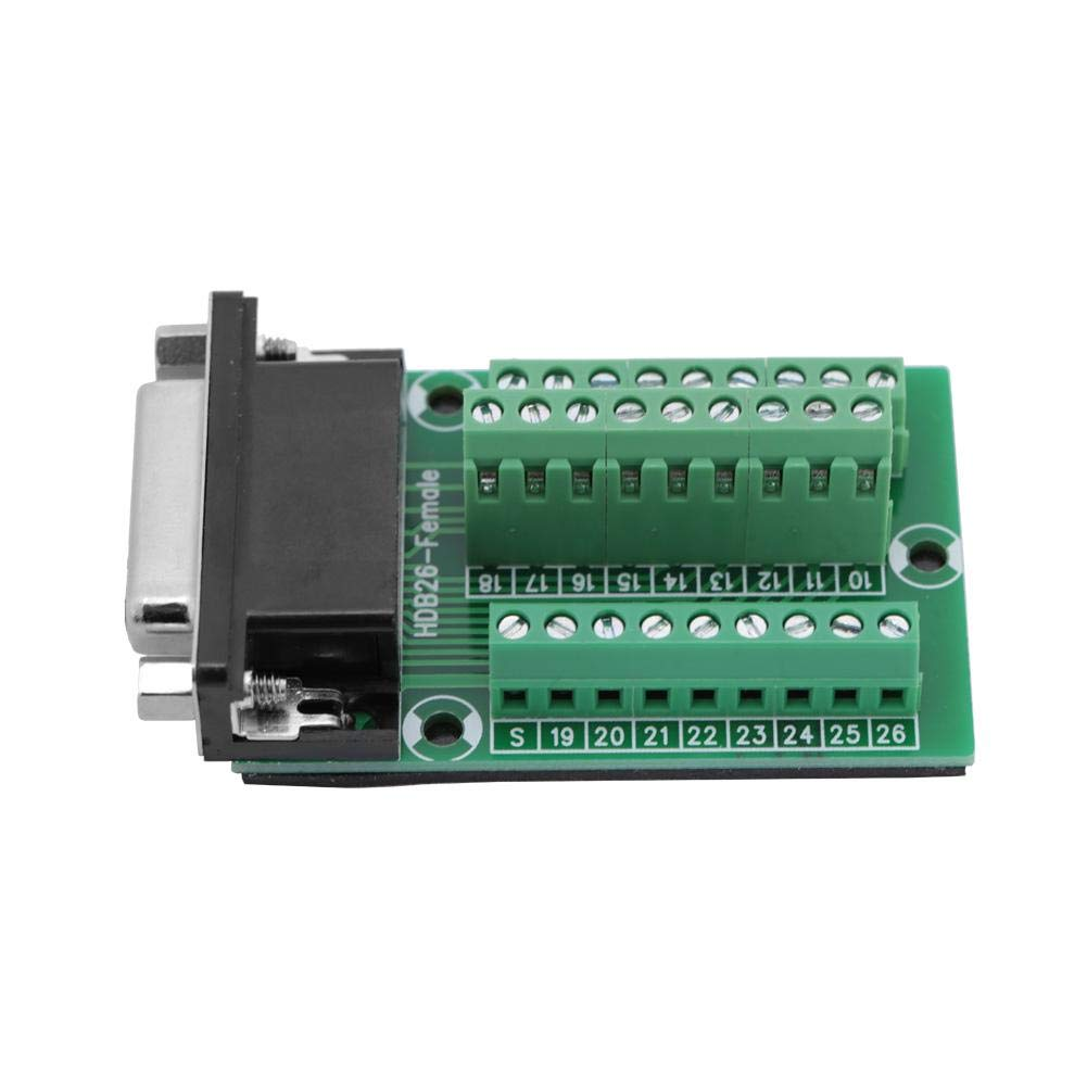 Breakout Board Female Head Female Connector Terminal Breakout Pcb Borad Terminal Connector Motion Controller Card Interface Electrical Wiring Interface Module DB26 DB26-M2-01