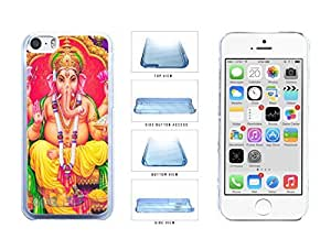 Colorful Ganesha Clear Plastic Phone Case Back Cover Apple iPhone 5c