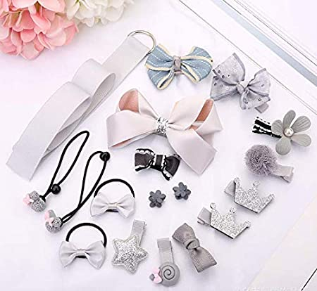 36 pieces Pack Baby Girls Hair Clips Cute Hair Bows Baby Elastic Hair Ties Hair Accessories Ponytail Holder Hairpins Set For Baby Girls Teens Toddlers E Assorted styles