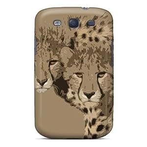 Galaxy High Quality Tpu Case/ Cheetah Brothers GCAlSei2637WpIyV Case Cover For Galaxy S3 by lolosakes
