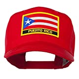 E4hats Puerto Rico Flag Letter Patched Cap - Red OSFM