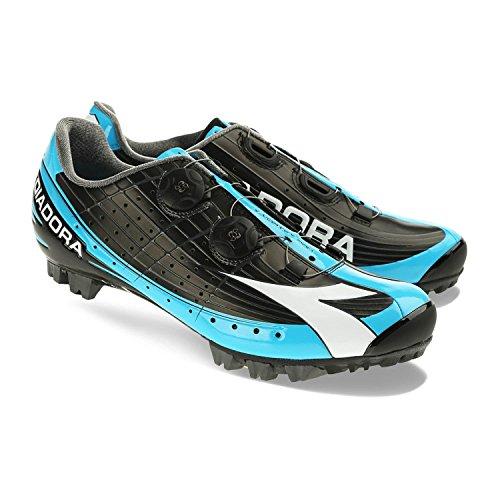 Diadora X Vortex-pro Shoe Bike - Signori Nero / Bianco / Blu Fluo