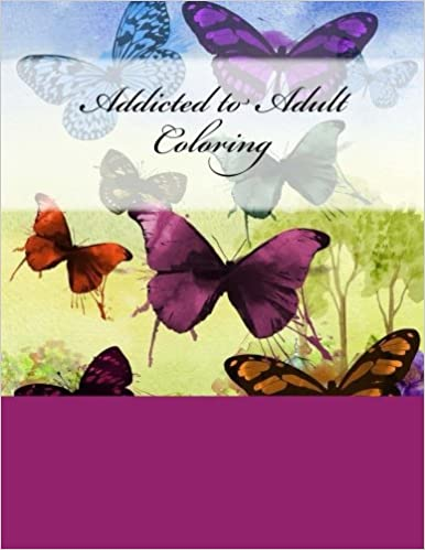 Book Addicted to Adult Coloring: Coloring Book for Grownups and Journal/Diary 2-in-1