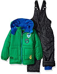 Boys' Quilted Snowsuit W/Patches