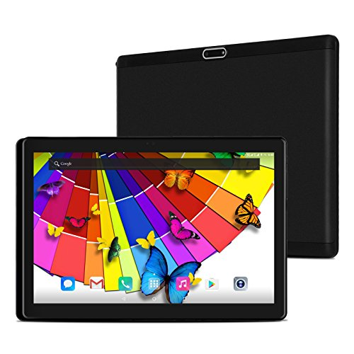 XGODY T1004 10.1 Inch 2.5D Glass Tablet Android 7.0 PC Support 4G LTE/3G/2G Network 2GB RAM 32GB ROM Octa-Core 1.5 GHz Processor FHD Screen Dual camera Support Wifi Bluetooth 4.0 Dual SIM Black by Xgody