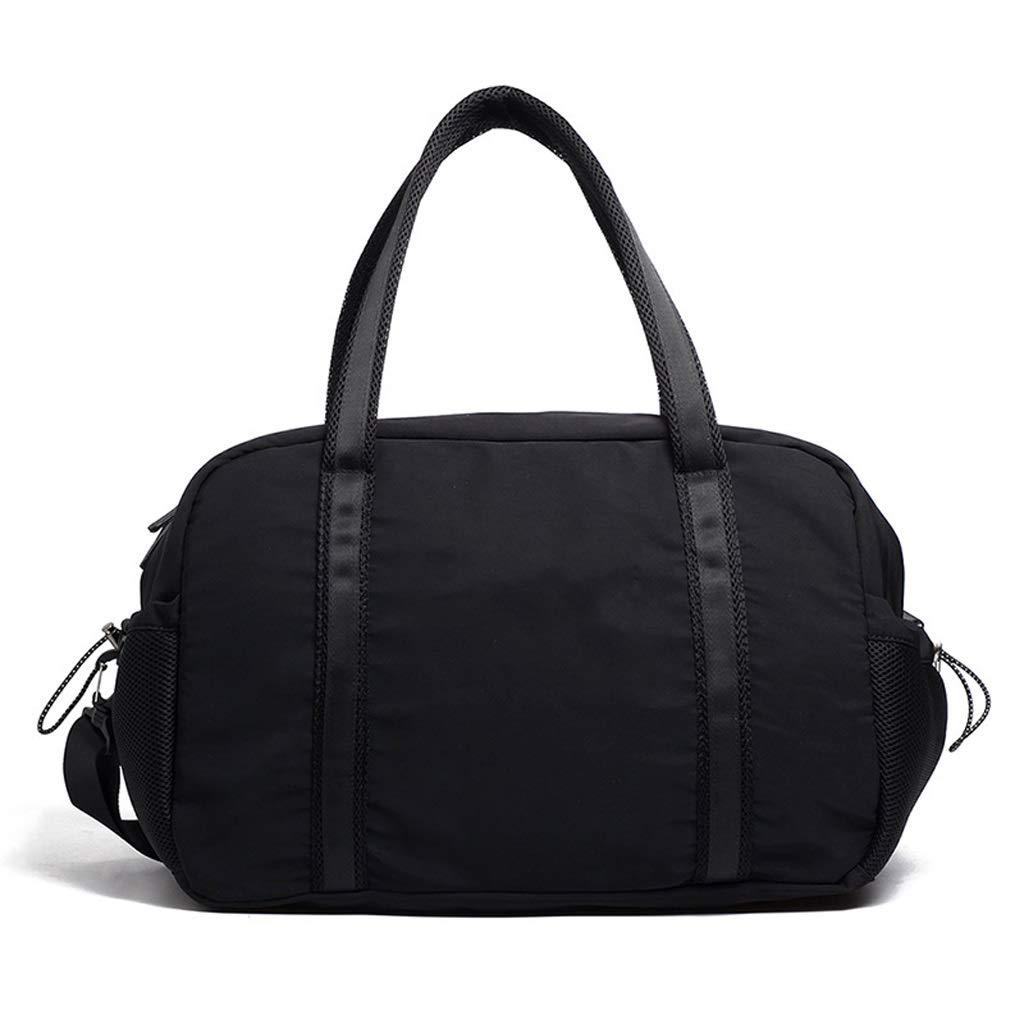 WANGXIAOLINYUNDONGBAO トラベルバッグ、ポータブル、マルチファンクション、フィットネスバッグ、短距離用バッグ、スポーツバッグ、ブラック,46*22*30cm   B07NSWK998