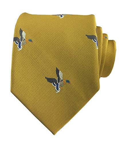 (Men Bronze Silk Wedding Self Cravat Daily Dress Tie Wedding Best Birthday Gift for Husband)