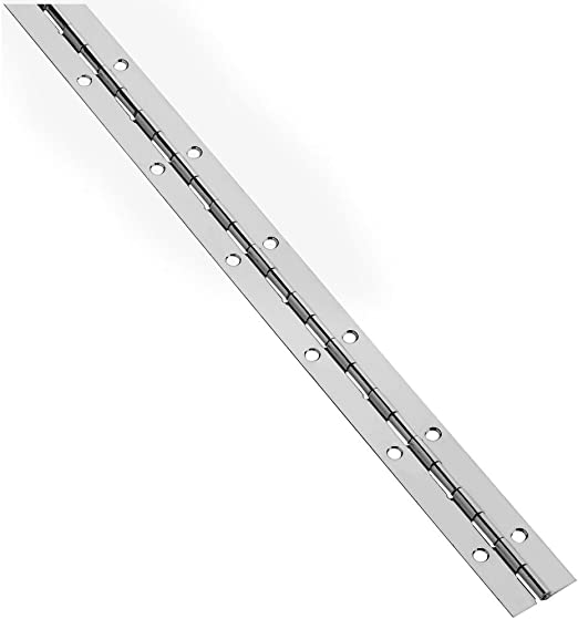 National Hardware V570 1-1//16 X 12 Continuous Hinges in Nickel