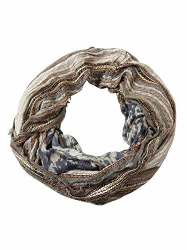 Collection Xiix Women Multi Stripe Slub Infinity Loop Scarf Ancient Stone
