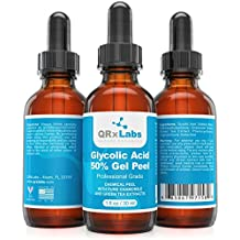 Glycolic Acid 50% Gel Peel with Chamomile and Green Tea Extracts - Professional Grade Chemical Face Peel for Acne Scars, Collagen Boost, Wrinkles, Fine Lines - Alpha Hydroxy Acid - 1 Bottle of 1 fl oz