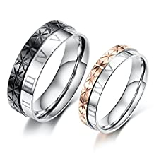 Brand New His or Hers Matching Set Titanium Stainless Steel Couple Wedding Band Set in a Gift Box
