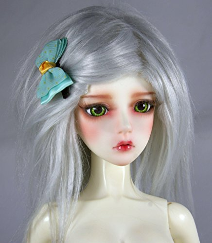 Dream of doll shop BJD doll wig 1/3 1/4 1/6 BJD DOLL SD Fur Wig Dollfie Light Grey