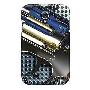 Bernardrmop Fashion Protective Pistol Chrome Case Cover For Galaxy S4