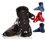 whistlekick Karate Sparring Foot Gear - Karate Sparring Gear Set with FREE Backpack Martial Arts Sparring Gear Set of Taekwondo Sparring Gear Set Martial Arts Equipment Set Footgear Boots Kicks Shoes