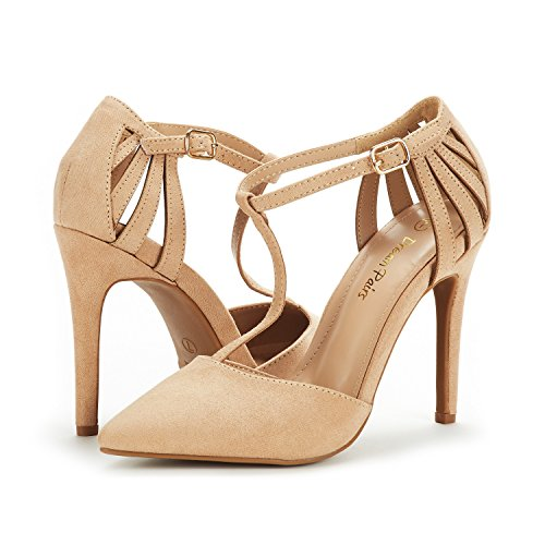 Nude Suede Shoe mary Pump Women's Oppointed Dream Pairs Pq0x8