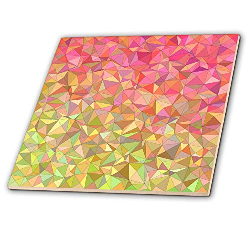 3dRose David Zydd - Triangle Backgrounds - Colorful irregular triangle mosaic - 12 Inch Ceramic Tile (ct_289053_4)